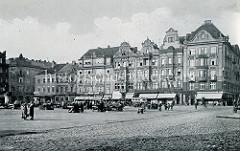 Alte Fotografie vom Marktplatz in Pilsen / Plzeň.