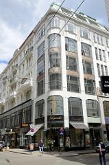 Wohnhaus / Geschäftshaus in der Spiegelgasse von Wien - das Eckgebäude im Baustil der Wiener Secession wurde 1914 errichtet - Architekten Karl und Wilhelm Schön.
