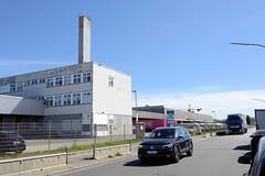 Bilder aus dem Hamburger Stadtteil Billbrook - Verwaltungsgebäude / Lager im Gewerbegebiet an der Werner-Siemens-Straße.