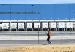 Bilder aus dem Hamburger Stadtteil Billbrook - Hermes Logistik-Center  am Billbrookdeich.