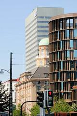 Moderne und historische Architektur am H.C. Andersens Boulevard in Kopenhagen.