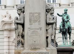Detailbilder der Architektur Wiens - Denkmal Georg Coch.