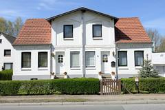 Doppelhaus/Wohnhaus am Billwerder Billdeich im Hamburger Stadtteil Billwerder.