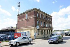 Fotos aus dem Hamburger Stadtteil Rothenburgsort - Gründerzeitgebäude, Einzelhaus im Gewerbegebiet an der Ausschläger Allee.