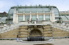 Palmenhaus am Rand des Burggartens in Wien - errichtet 1906, Hofarchitekt Friedrich Ohmann.