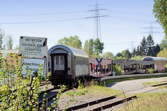 Bilder aus dem Hamburger Stadtteil Billbrook - Bahnanlage mit Waggons.