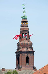 Turm von Schloss Christiansborg, dänische Parlament Folketinget in Kopenhagen.