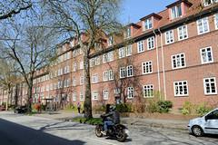 Siedlungsbau in der Holtenklinker Straße von Hamburg Bergedorf - die Gebäude wurden 1924 - 31 errichtet und steht unter Denkmalschutz.