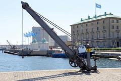 Historischer Handkran am Ufer des  Nordre Toldbod im Kopenhagener Hafen.