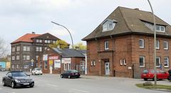 Bilder aus dem Hamburger Stadtteil Billbrook - alte Ziegelarchitektur an der Moorfleeter Straße.