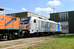 Fotos von Hamburgs Stadtteil Billbrook, Bezirk Hamburg Mitte - Rangierlok - Lokomotive Railpool.