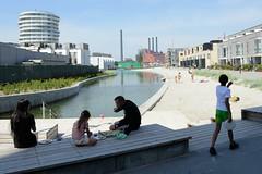 Neubaugebiet Havnevigen in Kopenhagen - ca. 400 Eigenturmswohnungen an einer künstlichen Bucht mit Badestrand nahe dem Südhafen.