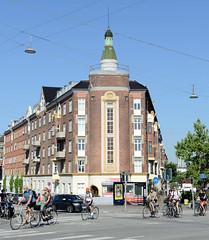 Wohngebäude, errichtet um 1900 in der Ingerslevsgade von Kopenhagen.