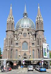 Kirche Maria vom Siege in Wien - 1875 nach Entwürfen des Architekten Friedrich von Schmidt errichtet. Die ehm. römisch-katholische Pfarrkirche wurde 2015 der koptisch-orthodoxen Kirche geschenkt.