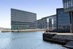 Moderne Architektur am Hafenrand von Kopenhagen - Bürogebäude.