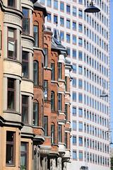 Erkerfenster / Hausfassaden - historische und moderne Architektur in Kopenhagen.