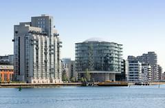 Moderne Architektur an der Hafenkante von Kopenhagen.