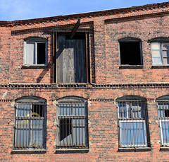 Bilder aus dem Hamburger Stadtteil Billbrook - altes Ziegelgebäude, Lagerhaus am Billbrookdeich.