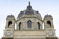 Kuppel vom Kunsthistorischen Museum in Wien, erröffnet 1891 - Architekten Semper und Hasenauer.