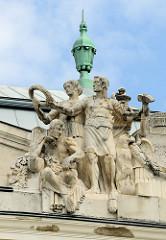 Detailbilder der Architektur Wiens.