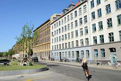 Mehrstöckige Wohnhäuser in der Istedgade im Kopenhagener Stadtteil Vesterbro .