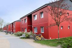 Bilder aus dem Hamburger Stadtteil Billbrook - Wohnunterkunft / Asylbewerberheim in der Berzeliusstraße.