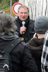 Rechte Kundgebung - Motto Michel, wach endlich auf. Der islamfeindliche Blogger  Michael Stürzenberger hält seine Rede.