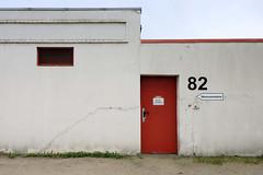 Bilder aus dem Hamburger Stadtteil Billbrook -  schlichtes  Lagergebäude / Warenannahme in der Berzeliusstraße.