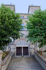 Eingang / Türme der Elias Kirche in Kopenhagen.