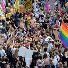 Demonstration Ein Europa für alle am 19.05.2019 mit   ca. 12 000 TeilnehmerInnen in der Hansestadt Hamburg.