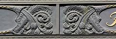 Bilder vom Neuen Wall - Stadtteil Hamburg Neustadt. Fassadendekor vom historischen Hildebrandhaus, errichtet 1908 - Architekten  Frejtag & Wurzbach.