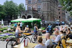 Die alte Hansestadt Deventer liegt am Fluss IJssel in der Provinz Overijssel in den Niederlanden.