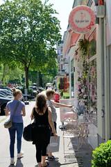 Bilder aus dem Hamburger Stadtteil Hoheluft Ost - Bezirk Hamburg Nord; kleine individuelle Geschäfte im Lehmweg.