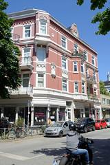 Architekturfotos aus dem Hamburger Stadtteil Eimsbüttel - Bezirk Eimsbüttel; Wohn- und Geschäftshaus im Eppendorfer Weg. Das Gebäude wurde1899 errichtet, Architekt Max Rix.