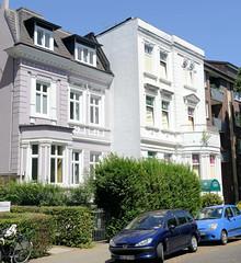 Architekturfotos aus dem Hamburger Stadtteil Eimsbüttel - Bezirk Eimsbüttel; Gründerzeitvillen in der Waterloostraße.