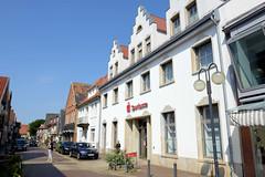 Bilder von der historischen Hansestadt Fürstenau im Landkreis Osnabrück - Bundesland Niedersachsen;   alte Wohn- und Geschäftshäuser in der Großen Straße.