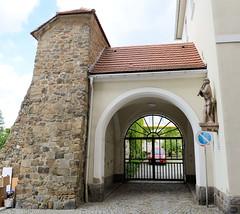 Fotos von der Stadt Löbau in der sächsischen Oberlausitz; Reste der alten Stadtmauer am Neumarkt.