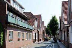Bilder von der historischen Hansestadt Fürstenau im Landkreis Osnabrück - Bundesland Niedersachsen; alte und neue Wohnhäuser in der Schwedenstraße.