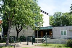 Architekturbilder aus dem Hamburger Stadtteil Eimsbüttel - Bezirk Eimsbüttel; Synagoge Hohe Weide. Das Gebäude wurde 1960 errichtet, Architekten Karlheinz Wongel und Franz May.