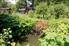 Fotos aus dem Hamburger Stadtteil Tonndorf - Bezirk Hamburg Wandsbek; Schrebergärten am Lauf der Wandse.