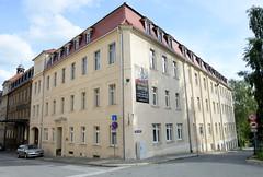 Fotos von der Stadt Löbau in der sächsischen Oberlausitz; Fabrikgebäude der August Förster GmbH, Flügel- und Pianobau in der Jahnstraße.