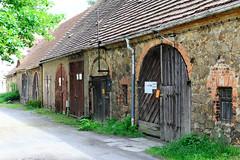 Fotos von der Stadt Löbau in der sächsischen Oberlausitz; historische Stadtscheunen in der Äußeren Bautzener Straße.