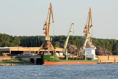 Bilder der Donau bei Galati in Rumänien.
