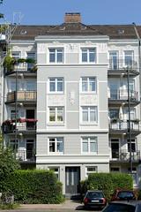 Architekturfotos aus dem Hamburger Stadtteil Eimsbüttel - Bezirk Eimsbüttel; Jugendstilfassade in der Sillemstraße.