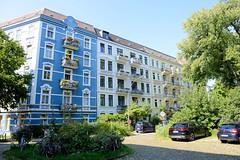 Architekturfotos aus dem Hamburger Stadtteil Eimsbüttel - Bezirk Eimsbüttel; Mehrfamilienhäuser Bei der Apostelkirche, errichtet 1903.