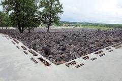 Gedenkstätte des Vernichtungslagers  Belzec der deutschen Nazis  in Polen - zwischen Märzund Dezember  1942 wurden dort 434 508 Menschen von den Nazis  ermordet