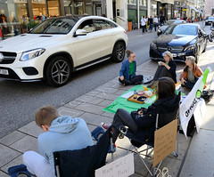 Internationaler Parking-Day am 21.09.19 im Neuen Wall in der Hansestadt Hamburg.