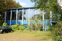 Marienthal ist ein Hamburger Stadtteil im Bezirk Hamburg Wandsbek. Ehemalige Schulsporthalle an der Rantzaustraße - Schularchitektur der 1960er Jahre.