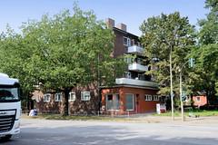 Bilder aus dem Hamburger Stadtteil Dulsberg - Bezirk Hamburg Nord. Siedlungsbau an der Straßburger Straße / Eulenkamp.