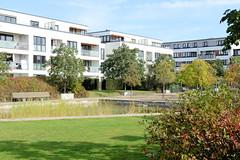 Marienthal ist ein Hamburger Stadtteil im Bezirk Hamburg Wandsbek. Neubauten / Wohnhäuser auf dem Gelände der ehemaligen Husarenkaserne.